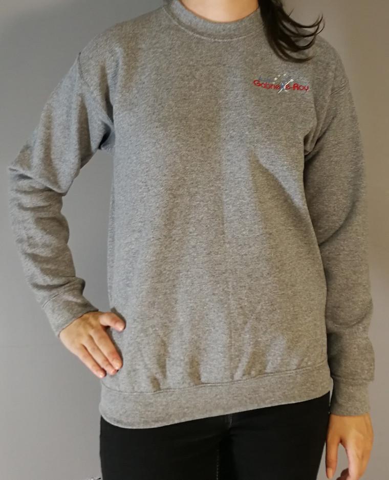 T-shirt manches longues molleton - Devant / Long sleeves fleece t-shirt - Front