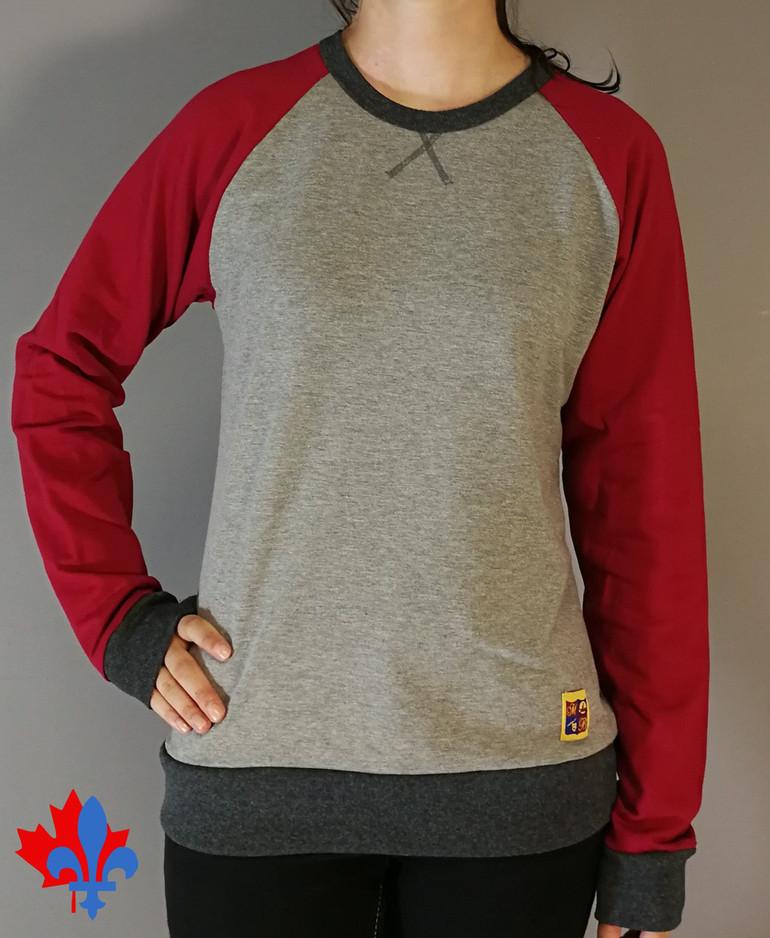 T-shirt manches longues 3 tons- Devant / Long sleeves t-shirt 3 colors - Front