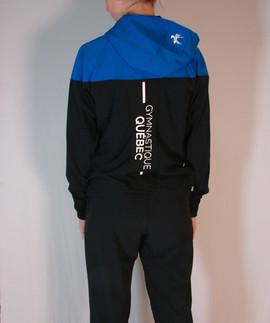 Veste sportive Gymnastique Québec 2 tons - Dos / Gymnastique Québec sport tracksuit jacket 2 colors - Back