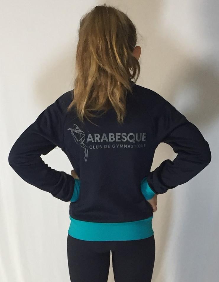 Veste sportive Arabesque 3 tons (enfant) - Dos / Arabesque sport tracksuit jacket 3 colors (kid) - Back