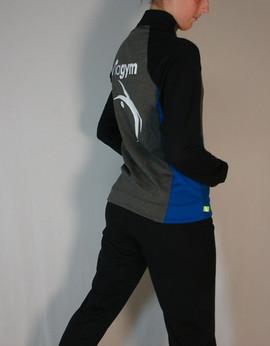 Veste sportive Viagym 3 tons - Côté / Viagym sport tracksuit jacket 3 colors - Side