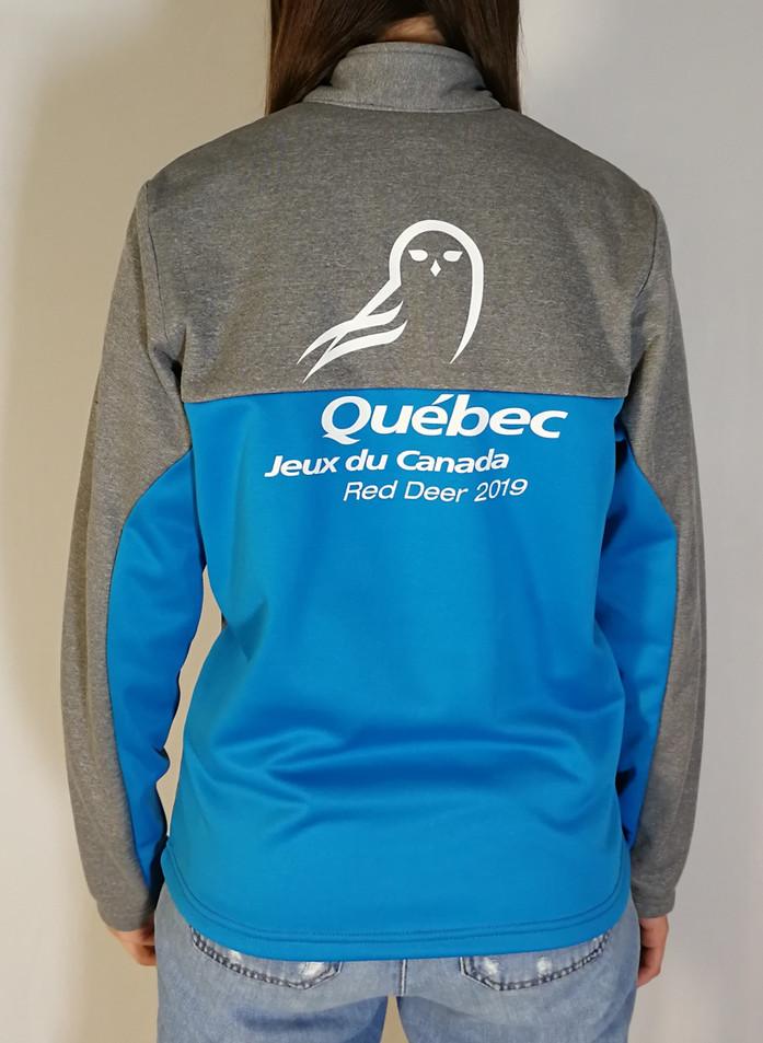 Veste sportive Jeux du Québec 3 tons - Dos / Jeux du Québec sport tracksuit jacket 3 colors - Back