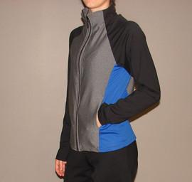 Veste sportive 3 tons - Côté / Sport tracksuit jacket 3 colors - Side