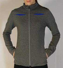 Veste sportive 2 tons - Devant / Sport tracksuit jacket 2 colors - Front