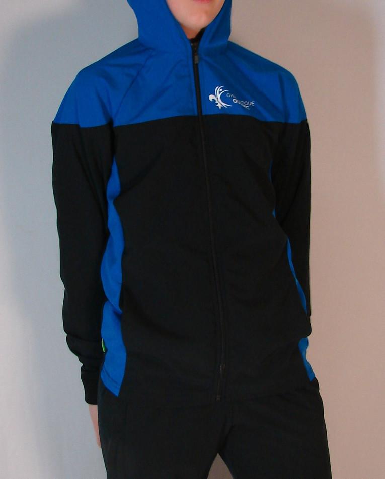 Veste sportive Homme Gym Québec 2 tons - Devant / Gym Québec Man sport tracksuit jacket 2 colors - Front