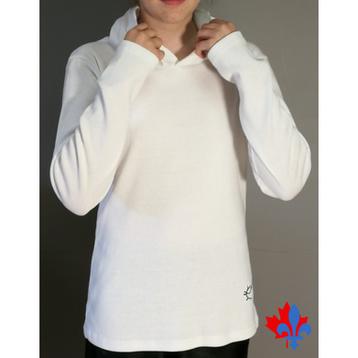 T-shirtAjustéManchesLonguesCapuchon-TIM