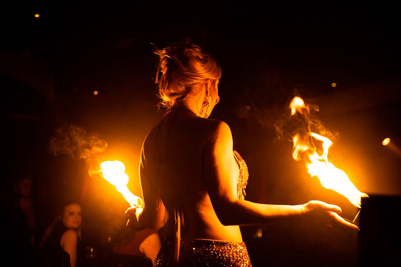 photograph of Fire performer