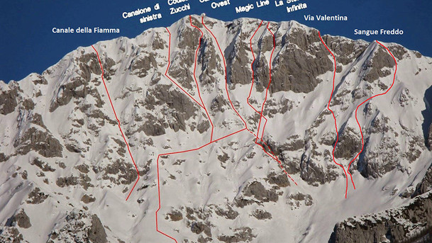 Grignone 2410 m - Canale della Fiamma / D