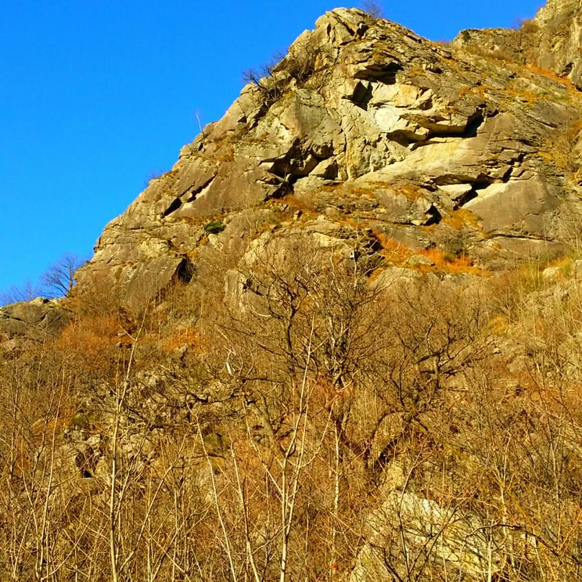 La zona di arrampicata