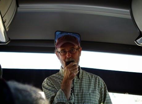 Keith Petersen on bus tour
