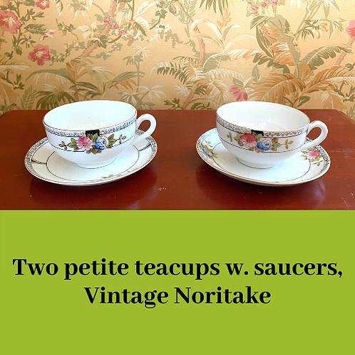 Noritake Teacups w. Saucers