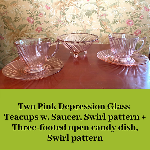 Depression Glass Teacups