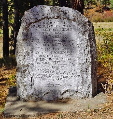 Historical marker at Hangman's Creek