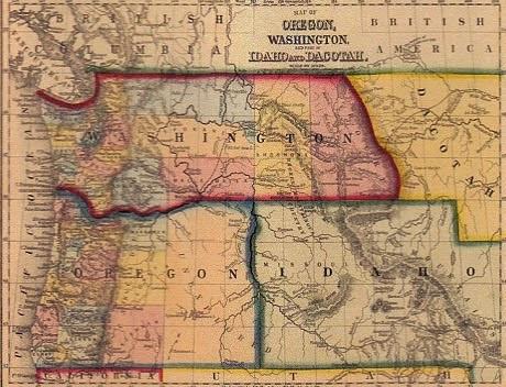 Map of Washington Territory