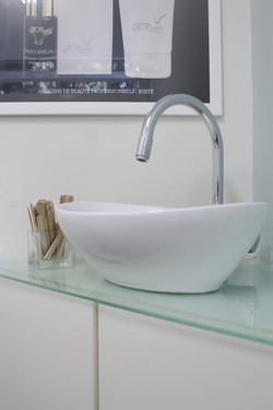 custom sink and cabinet