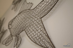 detail wire fish
