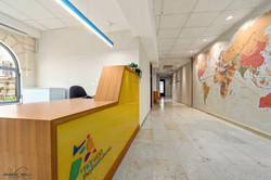 Reception and entrance wall