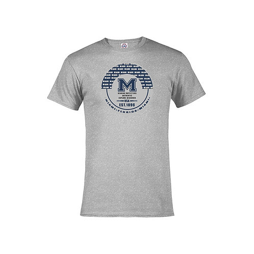 Grey Adult T-Shirt Miami M Navy ink #9025