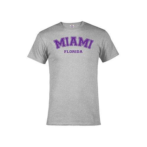 Grey Adult T-Shirt Miami #9025