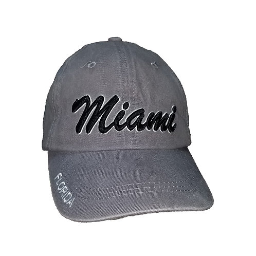 Miami Grey #81 Baseball Hat