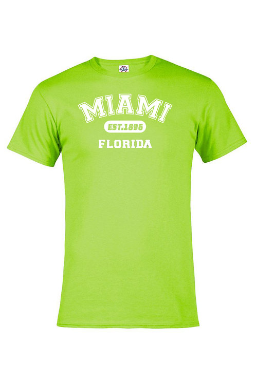 Mint Adult T-Shirt Miami EST White ink #9025