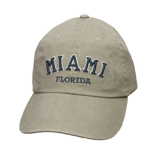 Miami Beige #91 Baseball Hat