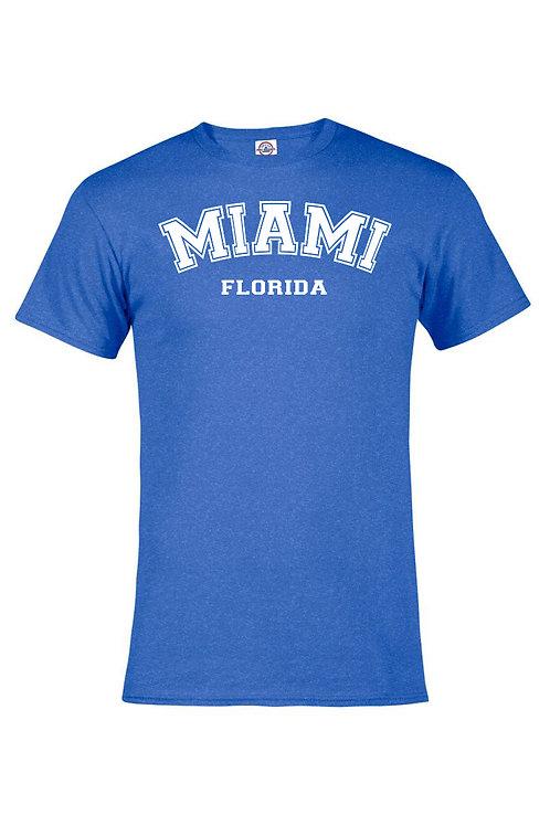 Royal Heather Adult T-Shirt Miami #9025