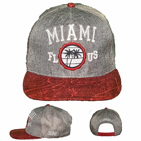 Miami Red #89 Baseball Hat