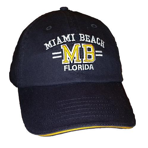 Miami Beach Black #62 Baseball Hat
