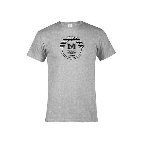 Grey Adult T-Shirt Miami M Black Ink #9025