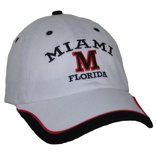 Miami White #46 Baseball Hat Miami