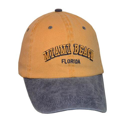 Miami Beach Mustard/Navy #50 Baseball Hat