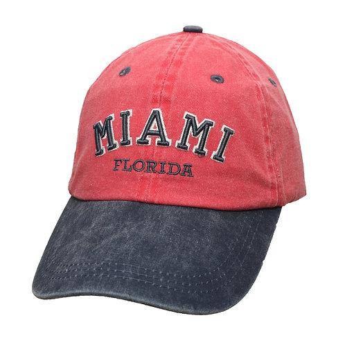 Miami Red/Navy #92 Baseball Hat