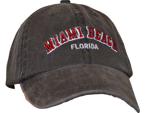 Miami Beach Black #49 Baseball Hat