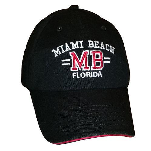 Miami Beach Black #60 Baseball Hat