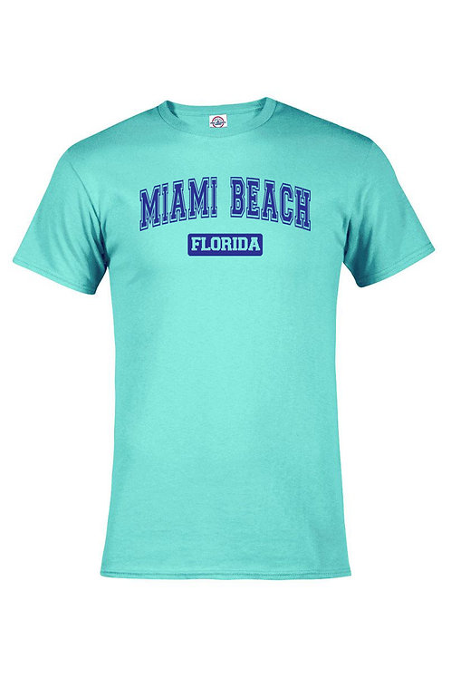 Celadon Adult T-Shirt Miami Beach #57 Navy Ink#9025