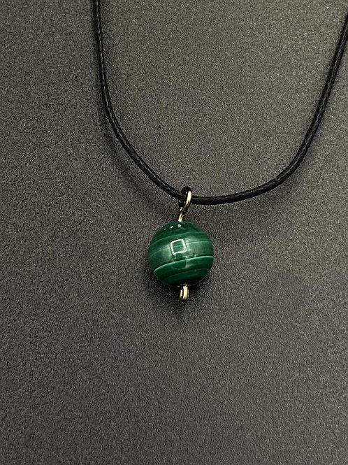 Pendentif Perle Malachite