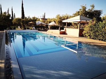 Le coin piscine de l'auberge de Tamesloth