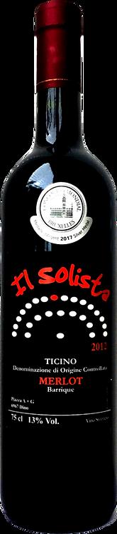 Ticino DOC Merlot ''Solista'' 2012 - Vini Piazza