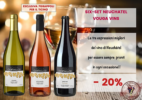 Six-Set Neuchâtel Vouga Vins