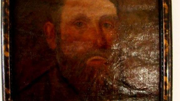 BUSTO D'UOMO CON BARBA. DIPINTO DELLA FINE DELL'800 AD OLIO SU TELA IN CORNICE