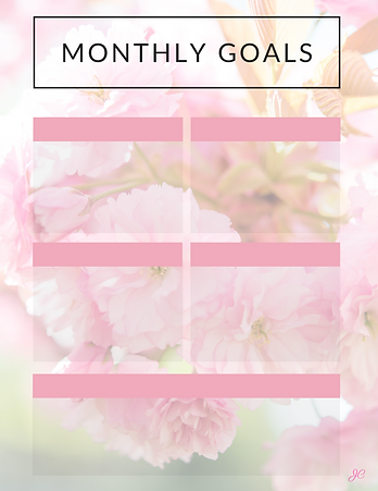 August 2020 Monthly Goals Free Download.