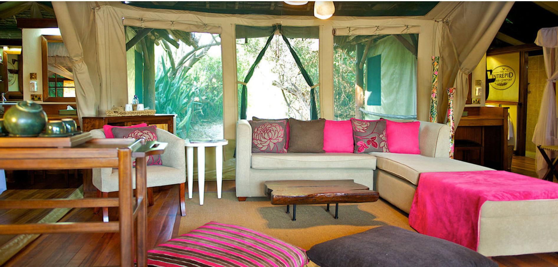 Samburu Inrepids Lounge in Tent.Jpg