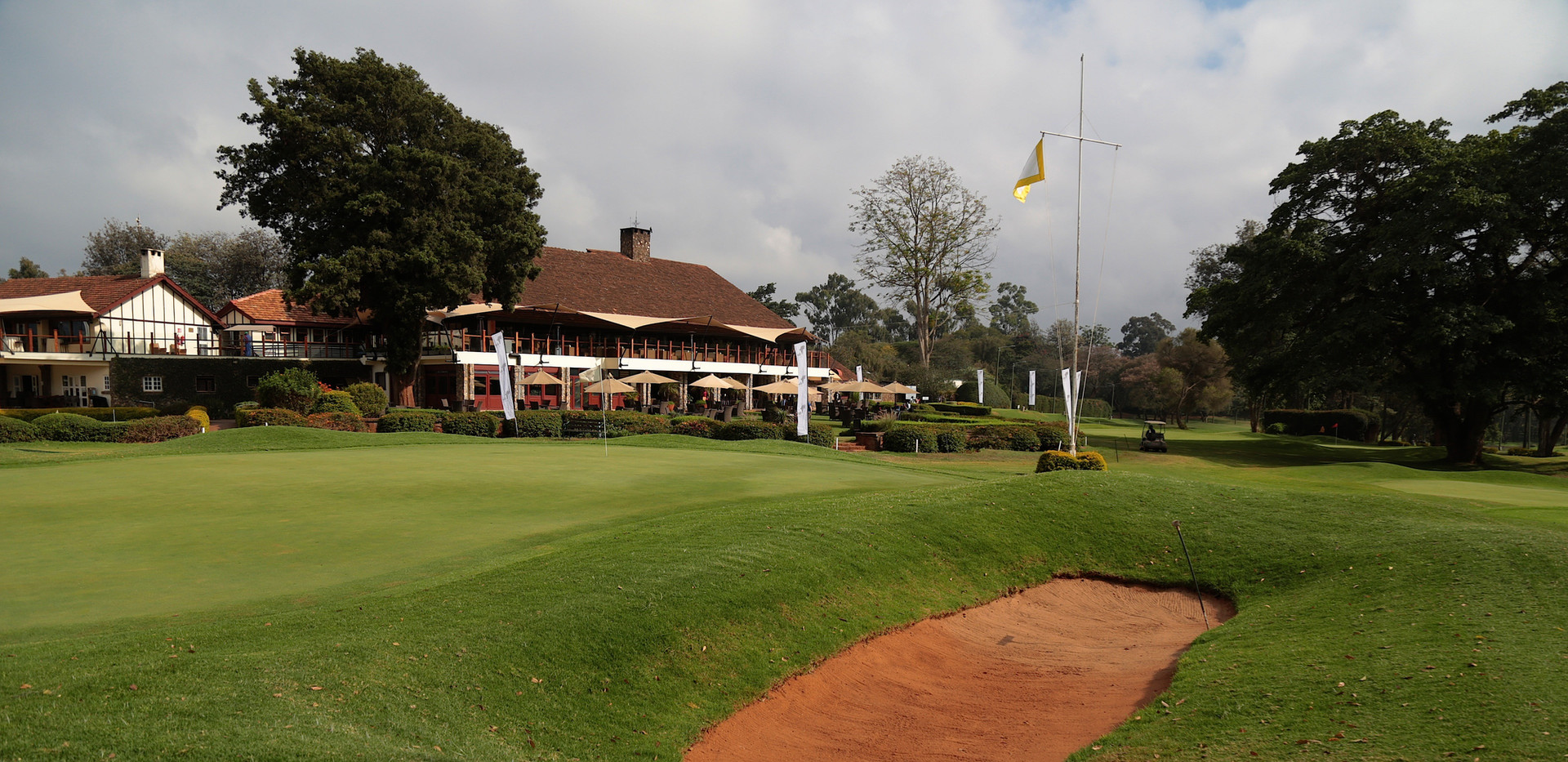 Karen Country Club Course with Clubhouse in Background