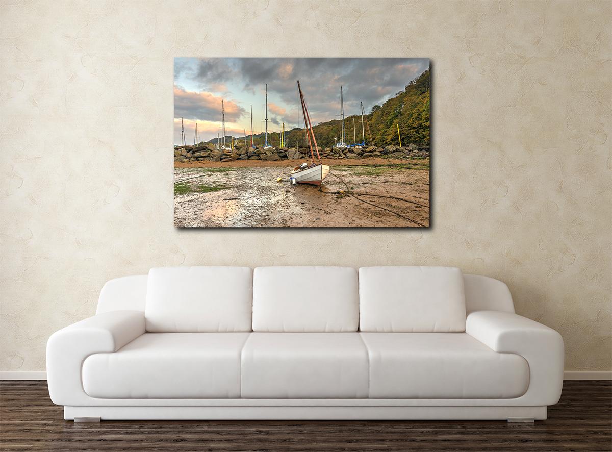 Watermouth Boats Canvas Wall