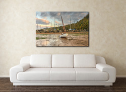 Watermouth Boats Canvas Wall