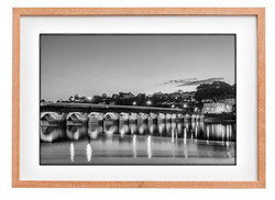 Bideford Bridge bw Print