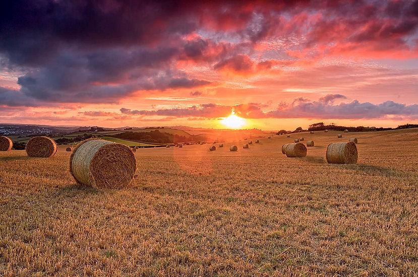 Sunset over Bideford Bay in North Devon