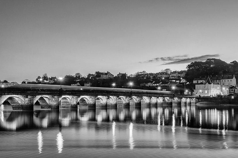 Bideford bridge in Black and White