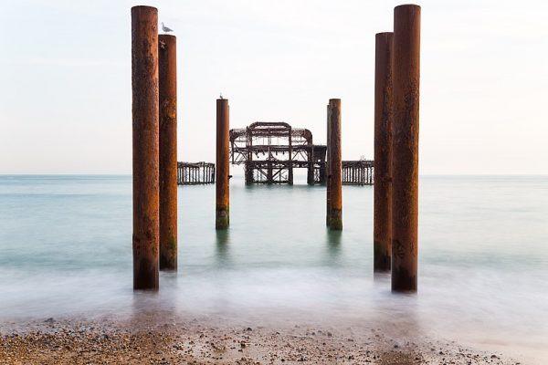 Derelict West Pier on Brighton seafront - First Prize. Credit: Matthew Hoser Read